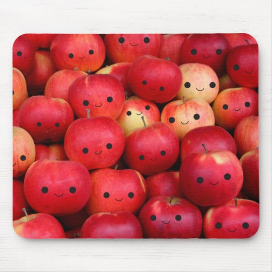 Happy Little Apples Mouse Mat