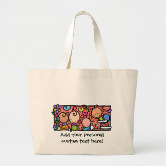 Happy Little Babies. Customisable tote Bags