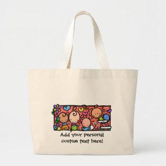 Happy Little Babies. Customizable tote Jumbo Tote Bag