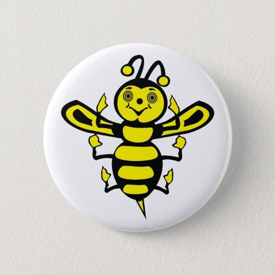 Happy Little Bee 6 Cm Round Badge