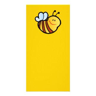 HAPPY LITTLE BUMBLEBEE BEE CARTOON CUTE HONEY INSE PHOTO GREETING CARD