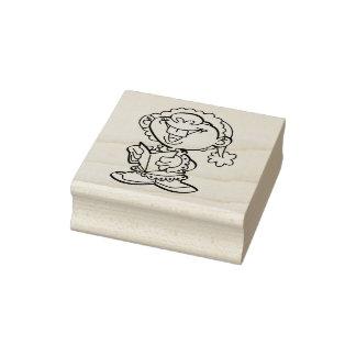 Happy Little Caroler Christmas Rubber Stamp