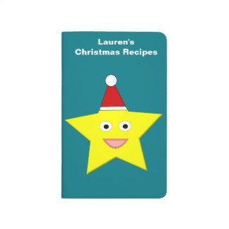 Happy Little Christmas Star Custom Recipe Journal