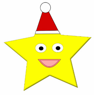 Happy Little Christmas Star Ornament Photo Sculpture Decoration