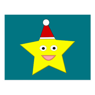 Happy Little Christmas Star Postcard