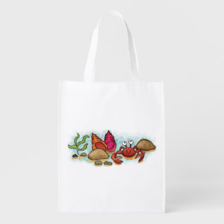 Happy Little Crab Reuseable Grocery Bag
