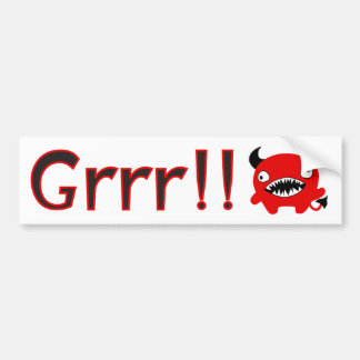Happy Little Devil Bumper Sticker
