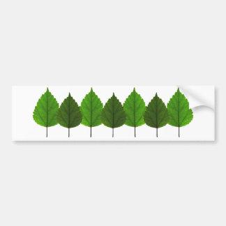 Happy Little Green Tree Leaf Forest Bumper Sticker