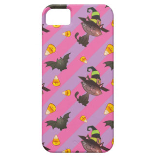 Happy Little Halloween Bat and Cat Barely There iPhone 5 Case