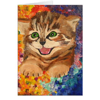 Happy little kitten - Greeting Card