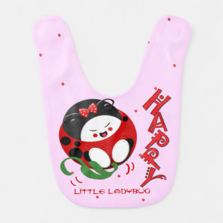 Happy little Ladybug Bibs