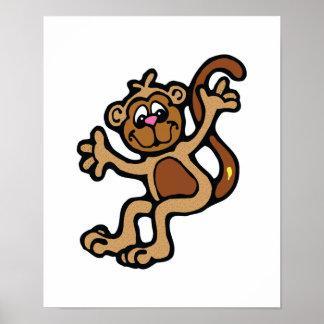 happy little monkey poster
