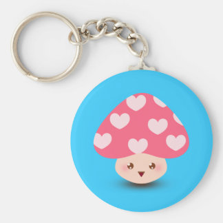 Happy Little Mushroom Key Ring
