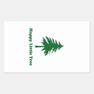 Happy Little Tree Rectangle Sticker