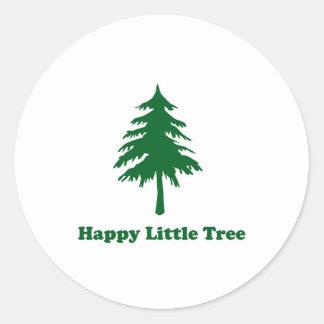 Happy Little Tree Round Sticker