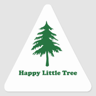 Happy Little Tree Triangle Sticker
