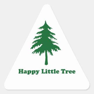 Happy Little Tree Triangle Stickers