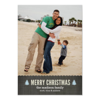 Happy Little Trees Holiday Photo Card