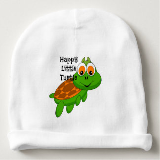 Happy Little Turtle Baby Beanie CUSTOMIZABLE