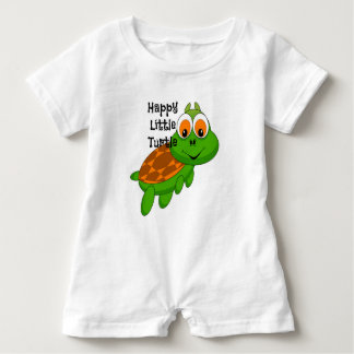 Happy Little Turtle Baby Romper Baby Bodysuit