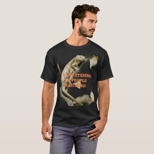 Happy Lizard People Watching Shirt Customise Text