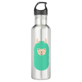 Happy Llama Emoji 710 Ml Water Bottle