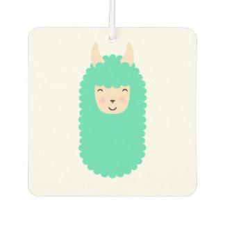 Happy Llama Emoji Car Air Freshener