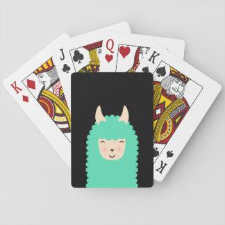 Happy Llama Emoji Playing Cards