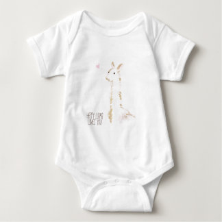 Happy Llama Loves You Baby Bodysuit