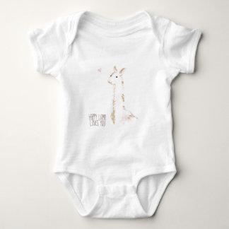 Happy Llama Loves You Baby Bodysuit