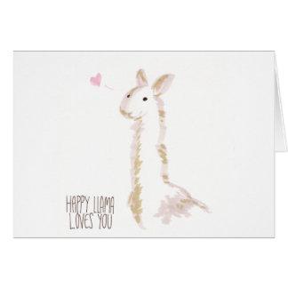 Happy Llama Loves You Card