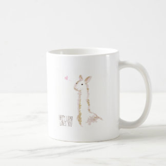 Happy Llama Loves You Coffee Mug