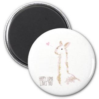 Happy Llama Loves You Magnet