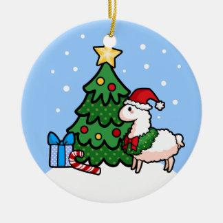 Happy Llamadays Christmas Ornament