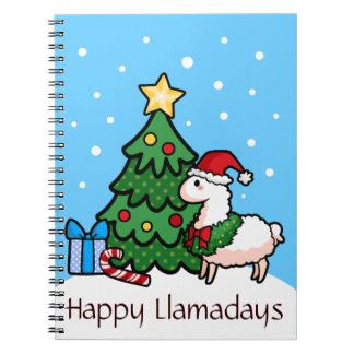 Happy Llamadays Spiral Notebook