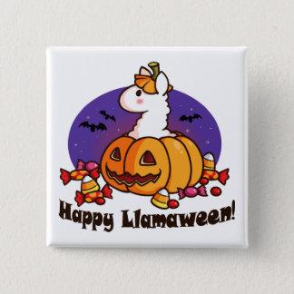 Happy Llamaween 15 Cm Square Badge