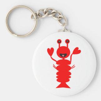 Happy Lobster Key Ring