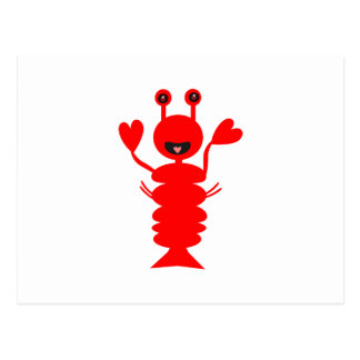 Happy Lobster Postcard