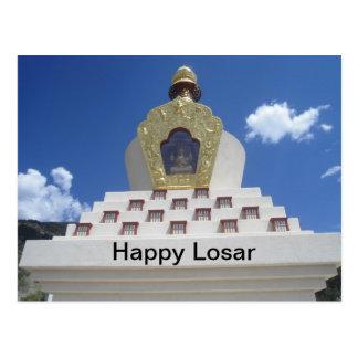 Happy Losar Stupa Postcard