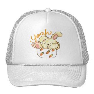 Happy Lounging Rabbit Hats