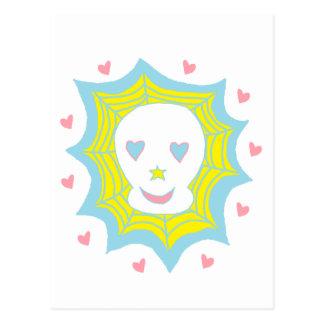 Happy Love Skull Postcard