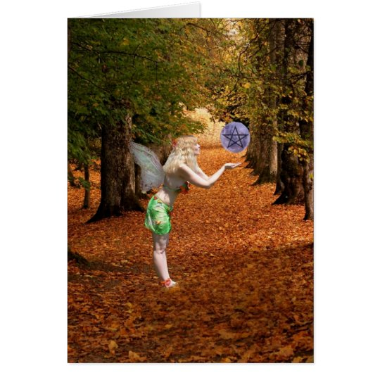 Happy Mabon Pagan Faerie Card