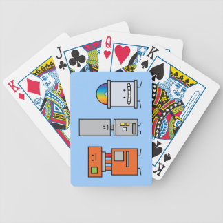 Happy Machine Robots Bicycle Playing Cards