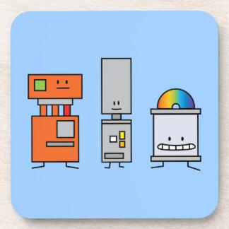 Happy Machine Robots Drink Coaster
