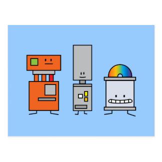 Happy Machine Robots Postcards