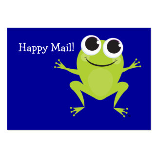 """""""Happy Mail"""" Cute frog card Business Card Template"""