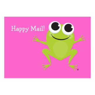 """""""Happy Mail"""" Cute frog card - Customize it! Business Cards"""