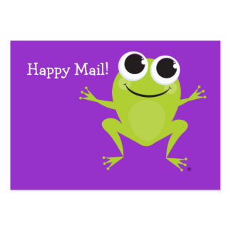 """""""Happy Mail"""" Cute frog card for your children! Business Cards"""