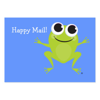 """""""Happy Mail"""" Cute frog card - for your kids! Business Card"""