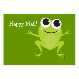 """""""Happy Mail"""" Cute frog card - Fun Gift Ideas! Business Card Template"""